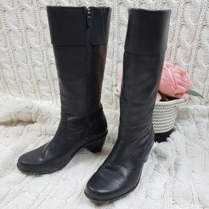 DANSKO | Knee high black leather boots. Size US 7
